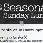 The taste of (almost) spring – a menu to banish winter