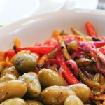 Roasted Peppers & Marinated Olives
