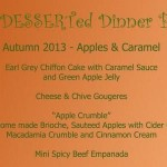 Autumn Dessert Dinner Party Menu